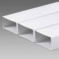 Kanál plochý biely