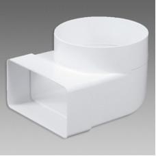 Článok VE1199 prechod.koleno 90° 110x55/100 biely