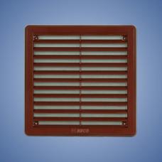 HACO/Mriežka vetracia+sieťka VM 100x100 krytka hnedá