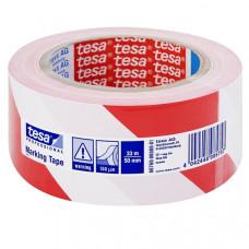 Páska TESA 60760 výstražná 50mmx33m červeno-biela